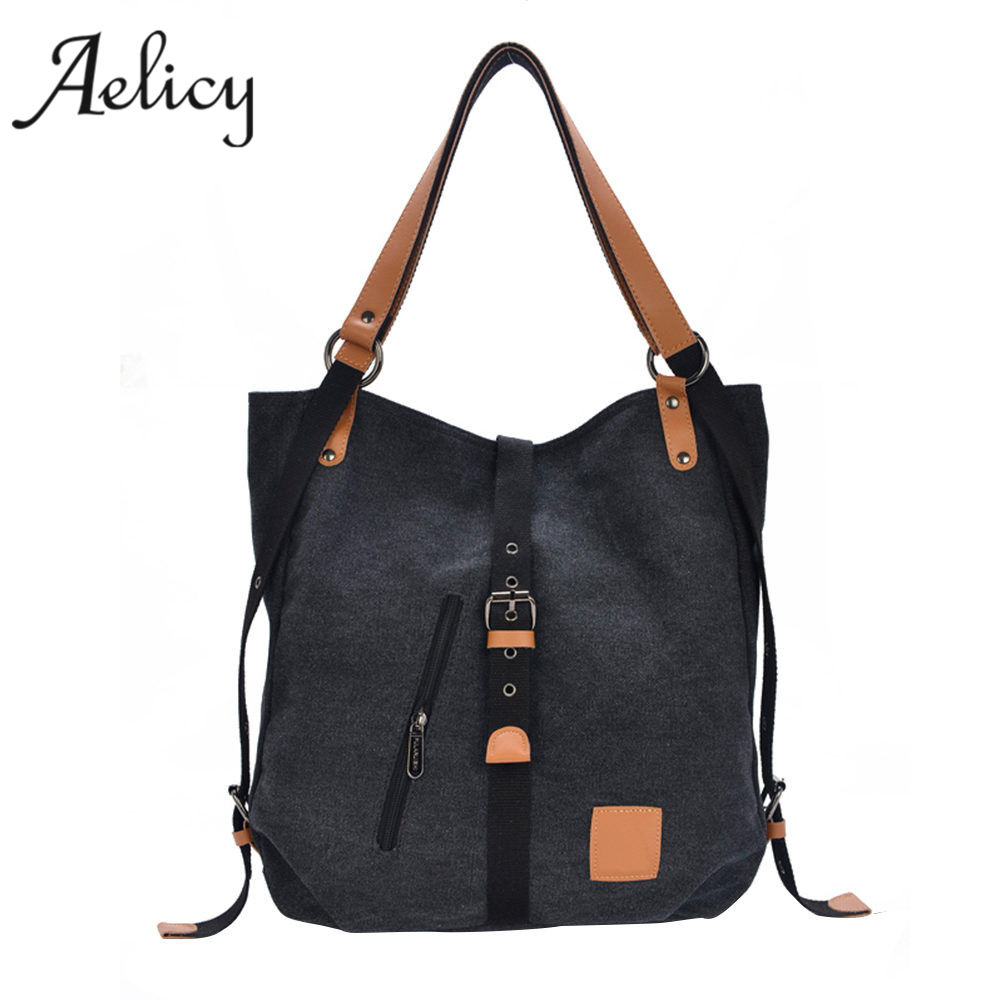 Female Handbag Lady Girls Casual Canvas Handbag Shoulder Bag Multifunctional  Shoulder Bags
