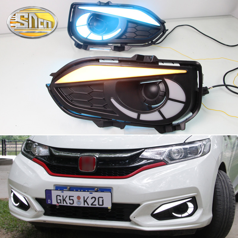 HOT SALE] SNCN 2PCS LED Daytime Running Light For Honda Fit