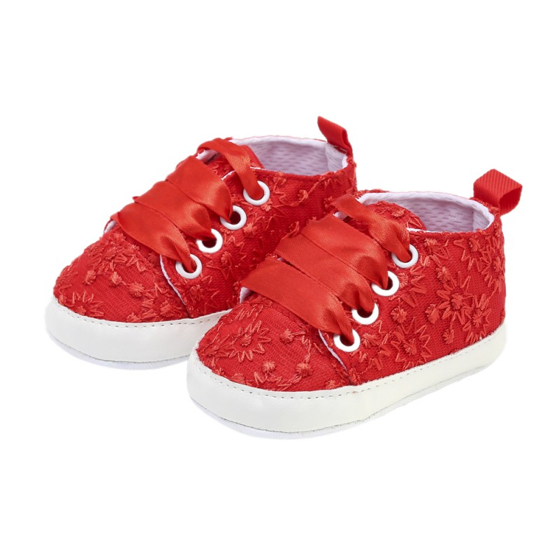 2019 Autumn Winter Newborn Baby Shoes Infant Classic Sport Sneakers Embroidered Lace-up Casual Shoes Baby Toddler Shoes 0-18M