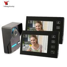 "Yobang Security freeship 7"" Video Doorbell door intercom with Weatherproof Night Vision Outdoor Camera And Indoor Monitor Unit"