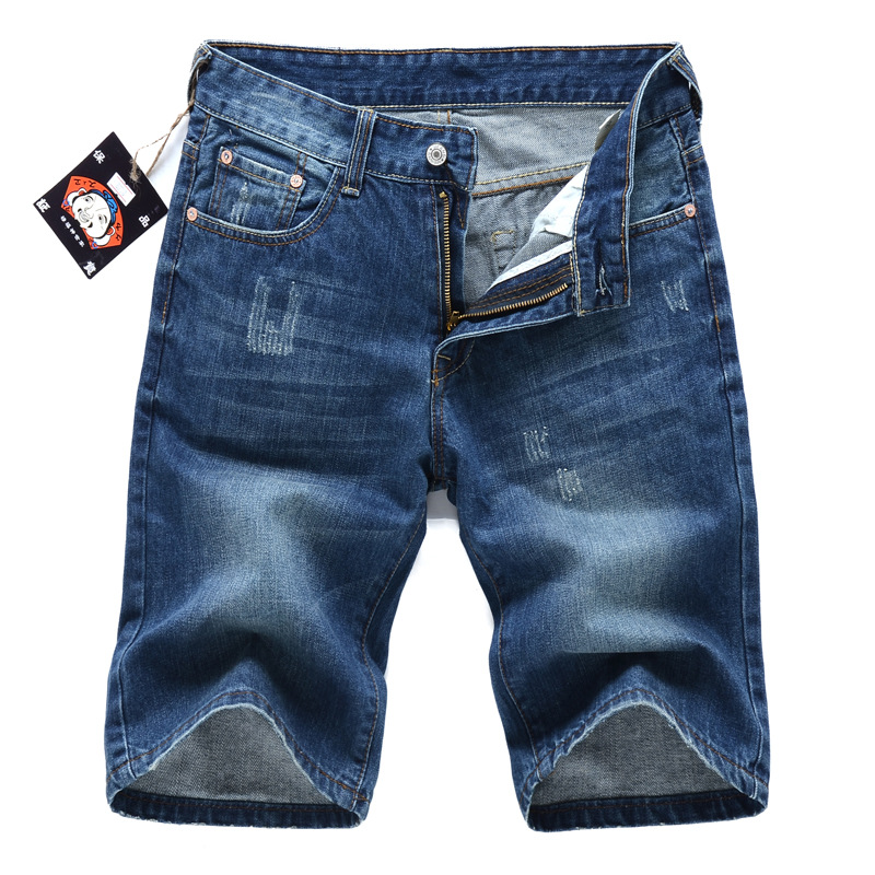 Embroidery Summer Denim Shorts Men Jeans Mens Jean Shorts Hole Hip Hop Bermuda Skate Board Harem Male Jogger Ankle Ripped Wave
