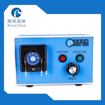 4 Roller POM Small Pulse Peristaltic Pump 110 v -240 v Small Flow Chemicals Dosing compact portable dosing peristaltic pump for laboratory microfluidic chemicals