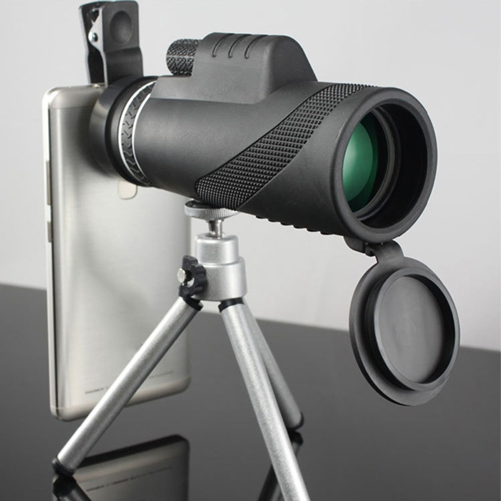 New Arrival 12X 50 Day & Night Vision HD Optics Zoom Monocular Telescope Black Waterproof Super Clear for Outdoor Hunting