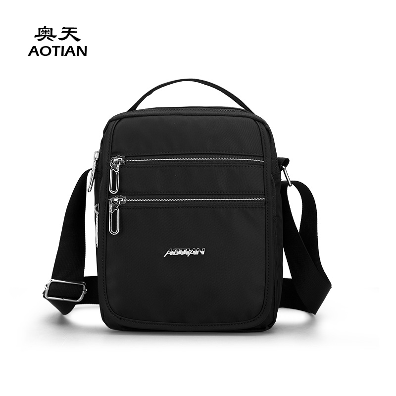 Aotian fashion solid nylon mini youth men messenger bag vogue popular portable crossbody boy small cute Commuter male handbag woman in the summer of 2016 youth popular color patent leather crocodile pillow boston crossbody bag business mini pochette