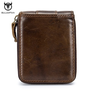Image 2 - BULLCAPTAIN Top Quality Cow Genuine Leather Men Wallets Fashion Joint Purse Dollar Carteira Masculina Design Credit Card Holder