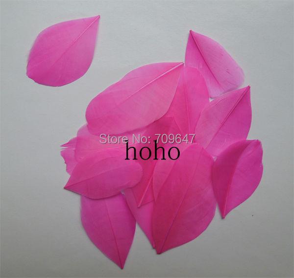 100 unids/lote 3 3 unids/lote 5 cm melocotón/Rosa caliente Ganso pétalos de 672d91
