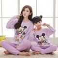 Caráter Pijamas Set Roupa Do Desgaste de Lazer Da Família Pai-Filho Definir Conjuntos de Roupas Mãe e Filha Mãe Roupas Filha FF33