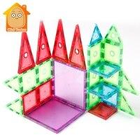 Magnet Game 72 98PCS Magnetic Tiles Transparentes Magnetic Constructor Building Blocks Toys For Kids