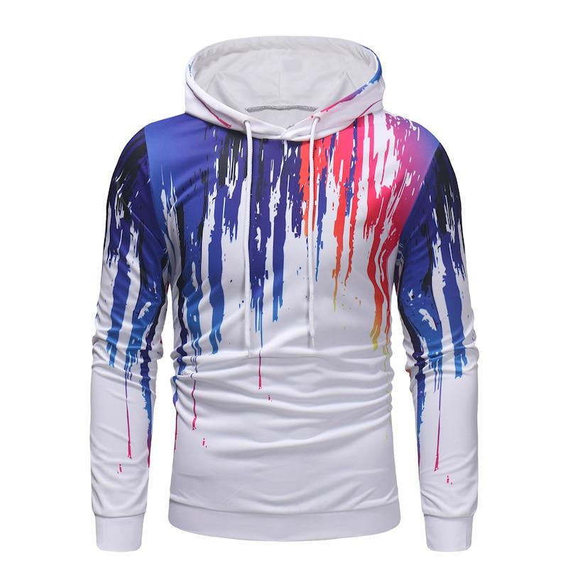Drop Shipping3D Ink Print Hoodies Men Fashion Long Sleeve Hooded Sweatshirt Men Hip Hop Streetwear Hoodie Tracksuit Male