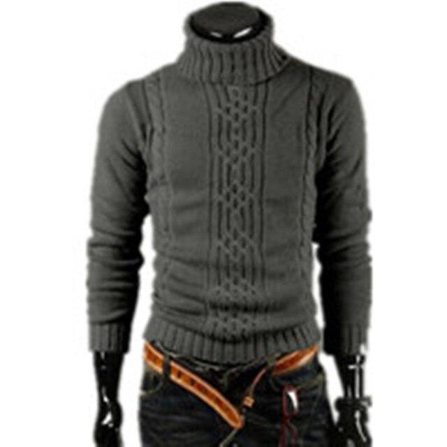 NEW 2016 Men's Thick Warm Sweater Turtleneck Sweater Sweater Irregular Fashion Tide Models Fitted British Shipping M\L\XL\XXL
