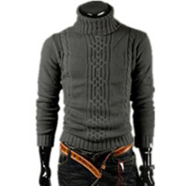 NOVO 2016 Dos Homens Quente Grossa Camisola de Gola Alta Camisola Camisola Irregular Moda Maré Modelos Equipados Britânico Grátis M \ L \ XL \ XXL