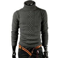 2014 Men S Thick Warm Sweater Turtleneck Sweater Sweater Irregular Fashion Tide Models Fitted British Shipping