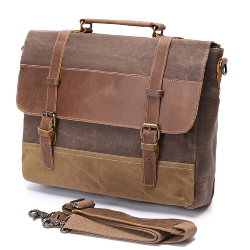 2018 New Waterproof Laptop Bag High-density Canvas Crossbody Bags For Women Man Original Leather Famous handbag Women Luxury women handbag shoulder bag messenger bag casual colorful canvas crossbody bags for girl student waterproof nylon laptop tote