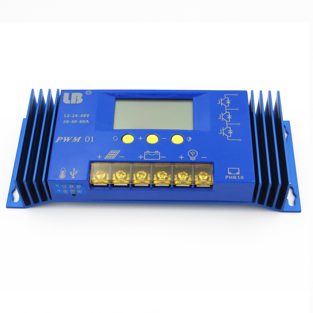 1pc X 60a 12v 24v Pwm Solar Panel Charge Controller