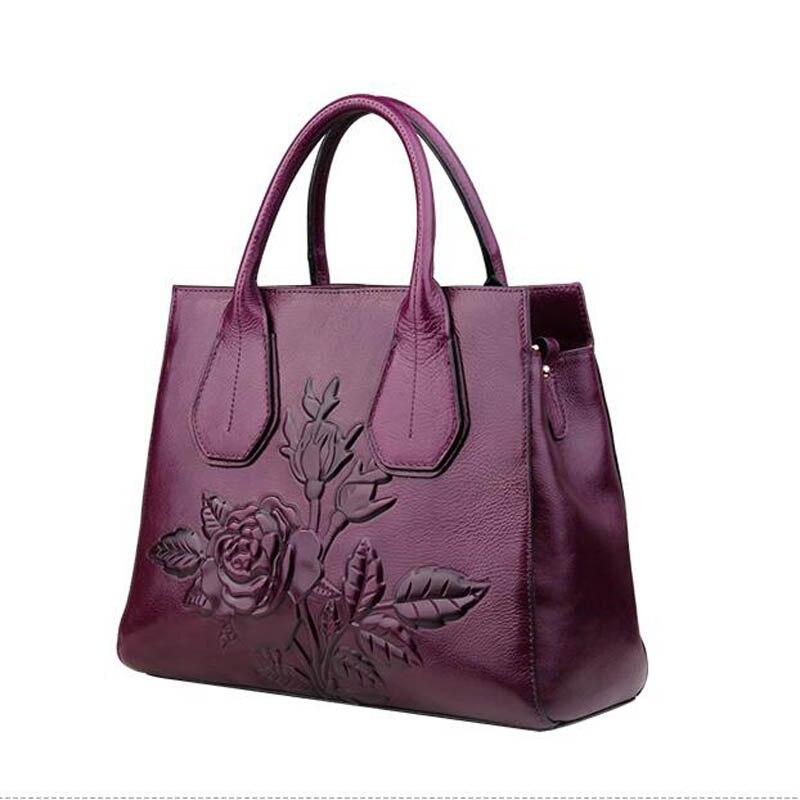 Stil red Mode Große Geprägte Ethnischen Neue Luofeihua Handtasche Marken kapazität 2019 Purple qwpYtWxP
