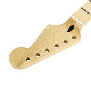 Image 5 - Fleor 1 Pcs 22 Frets Canadese Maple Gitaar Hals Elektrische Gitaar Hals Voor Fd St Strat Gitaar Hals Vervanging