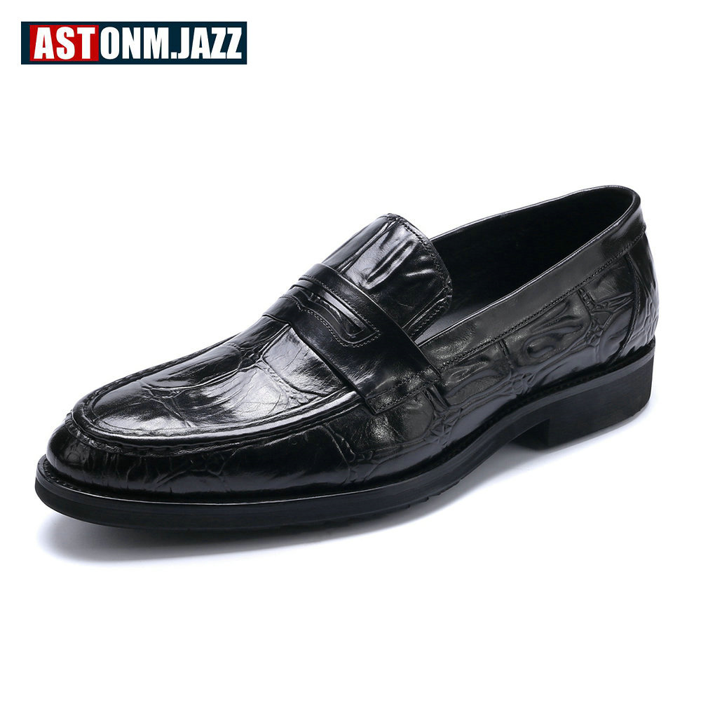 New Spring Mens Genuine Leather Slip On Oxfords Loafer Driving Shoes Business Man Crocodile Print Wedding Shoes Moccasins ch kwok crocodile leather mens dress wedding oxfords slip on male business suits tuxedo oxfords spring autumn man derby shoes