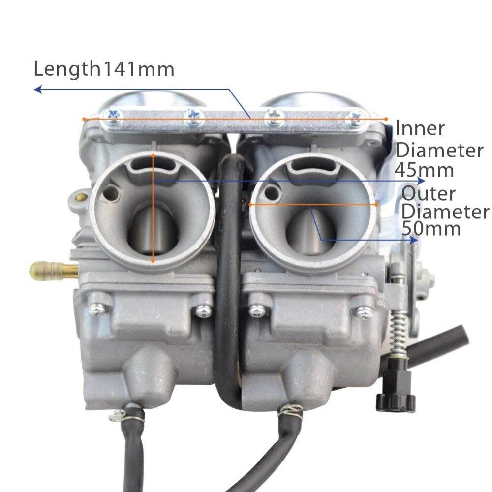 GOOFIT Twin karburaatori topeltsilindri karbi Honda kambrile 250cc - Mootorrataste tarvikud ja osad - Foto 3