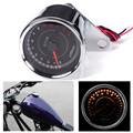 Durable Stainless Steel Motorcycle Speedometer Tachometer Odometer Rev Counter 0-13000 RPM