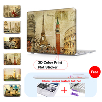 Retro Europe Frosted Hard Cover Case For Macbook Air 11 13 Pro 13 15 Retina 13