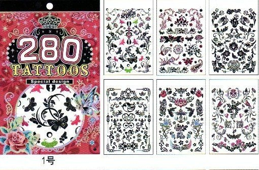 temporary tattoo sticker water transfer tattoo  body tattoo with good quality free shipping