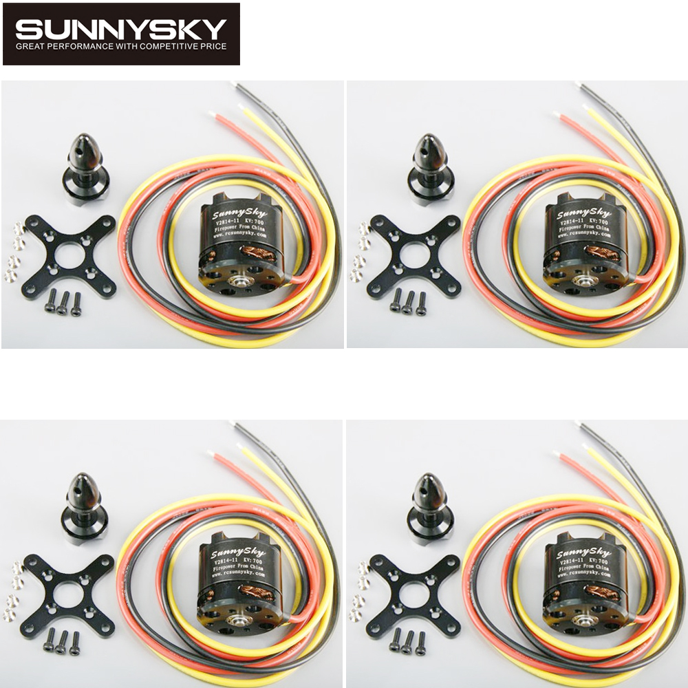4pcs/lot Newest SUNNYSKY V2814 KV700 KV800 Outrunner Brushless Motor for Quadcopter 4set lot original sunnysky x2206s 2100kv 2380kv outrunner brushless motor cw ccw x2206s for qav250 330 rc multicopter