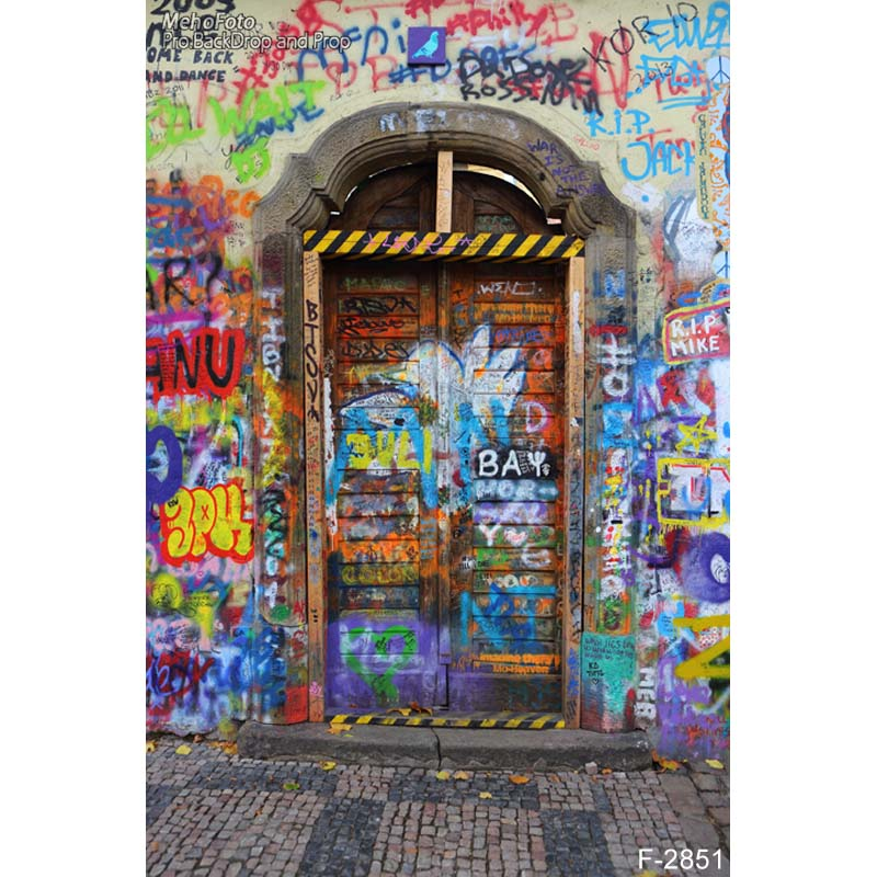 Vinyl Custom Photography Backdrops Prop Graffiti&Door theme Digital Printed Photo Studio Background Graffiti  F-2851 300cm 300cm vinyl custom photography backdrops prop digital photo studio background s 4748