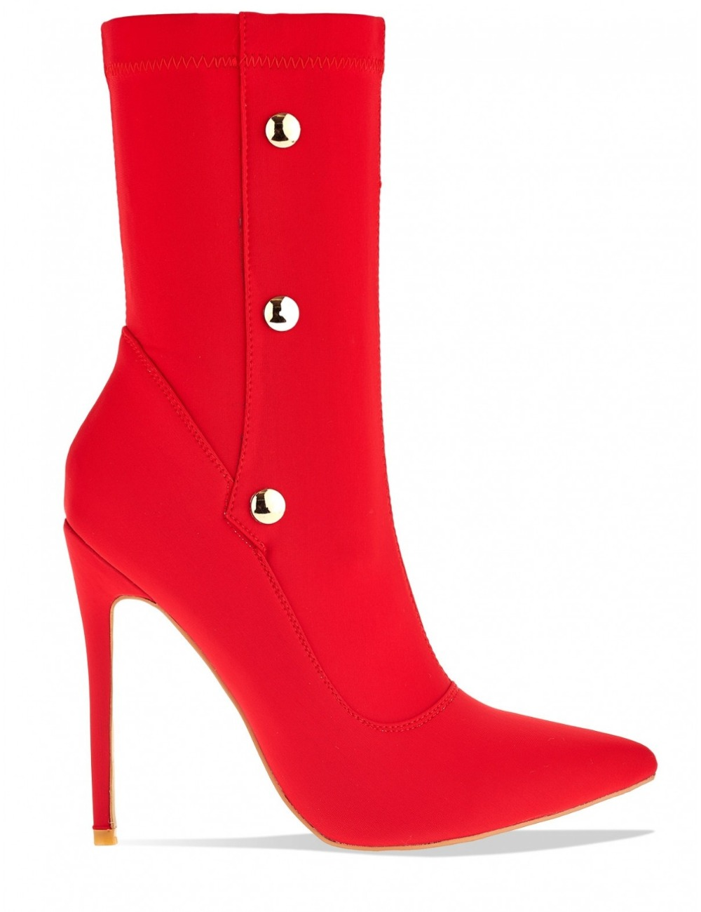 THEMOST New Arrival Stiletto Heel Shoes Europe Celebrity Style Pointy Closed Toe Lycra Stretch Sock Boots