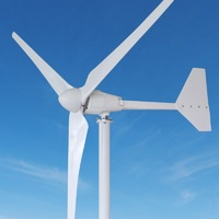 wind generator 2kw horizontal type wind power turbine 48v charging solar system battery combination power station 2m/s start up