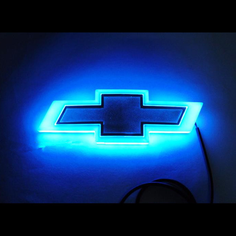 Big Blue Auto >> 4D logo Car LED Car Logo Light for Chevrolet Cruze Malibu modified light auto tail badge lamp ...