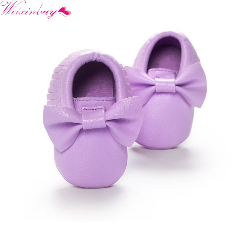 Mother & Kids ... Baby Shoes ... 32803459276 ... 4 ... Baby Shoes 2019 New Fashion Tassels Moccasin Boys Girls Toddler Soft Sole Crib Shoes Soft Bottom PU leather Pre-walkers Sneakers ...