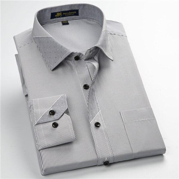 Pauljones 57xx дешевый воротник дизайн с длинными рукавами для мужчин s полосатые рубашки Повседневное платье Мужская рубашка в клетку Высококачественная Мужская одежда - Цвет: 5751