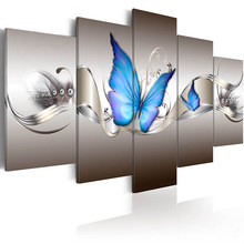Printed HD Modern 5 Pieces Panel Printing Wall Art Canvas of Luxury Flowers