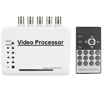 Interruptor divisor kit de sistema de procesador de cámara de vídeo cuádruple CCTV DVR con canal de 4 canales