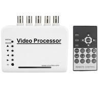 Nuevo Interruptor divisor kit de sistema de procesador de cámara de vídeo cuádruple CCTV DVR con canal de 4 canales