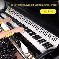Klavier Tastatur Papier 88 tasten Elektronische Tastatur Klavier Stab Referenz Papier Karte Bunte Doppelseitige Für Anfänger Zubehör