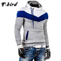 T Bird 2017 New Brand Hoodies Men Sweatshirt Male Stitching Hooded Hip Hop Long Sleeve Sweatshirt