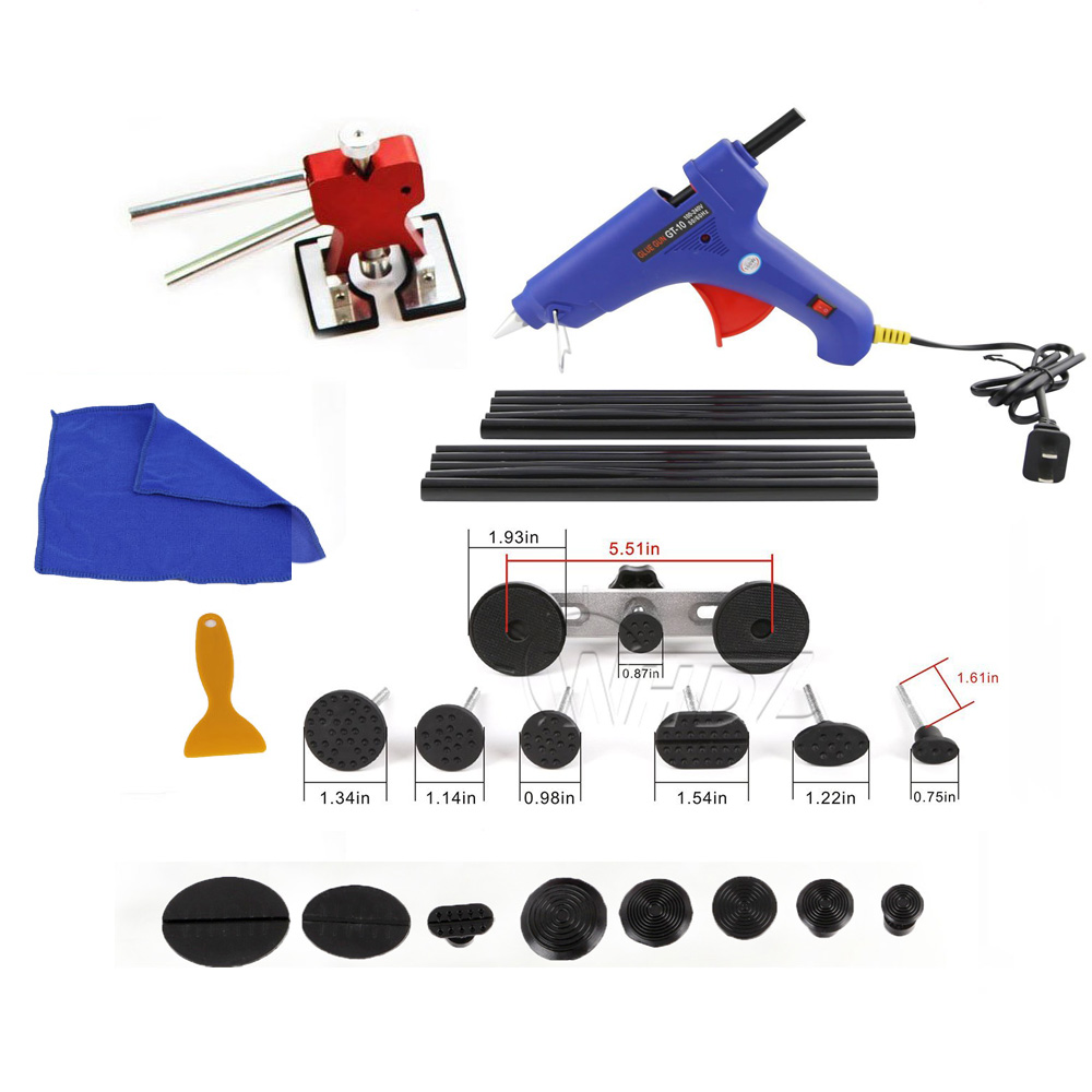 PDR Dent Puller Auto Body Repair Kit hand Lifer Paintless Dent Repait Tool Ding Repair Dent Remover Kit new universal steel chain cutting breaker and riveting tool kit for motocycle automotive repait tools