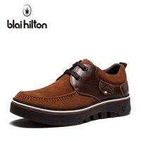 Blaibilton Patchwork Classic 100 Genuine Leather Luxury Oxfords Men Shoes Fashion Stripe Platform Mens Shoes Casual
