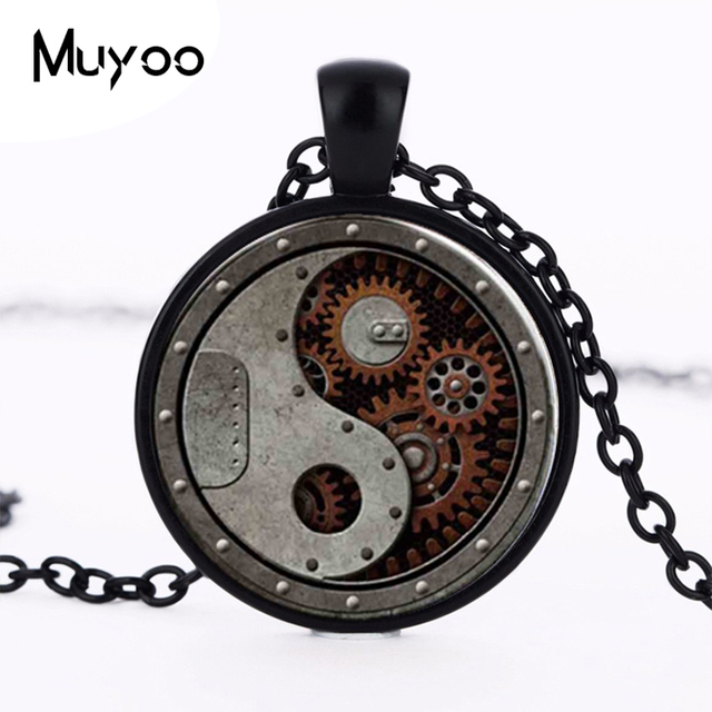 2017 New Design Round Wheel Gear Pendant Necklace Connectors Charms Steampunk St