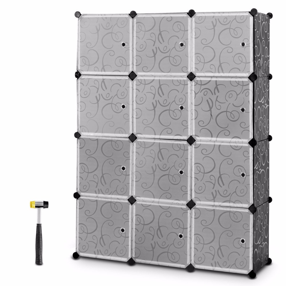 Giantex diy 12 cube portable closet storage organizer clothes wardrobe cabinet w/doors home furniture hw58560  sc 1 st  WorldShelves.site & Giantex diy 12 cube portable closet storage organizer clothes ...