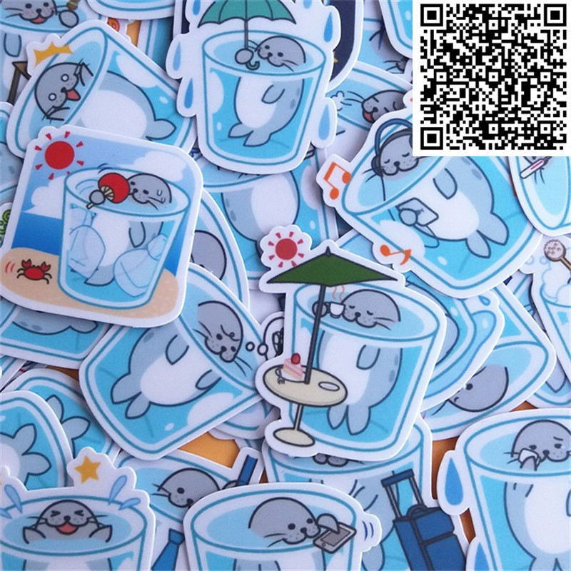 38 Pcs Mini Tea Cups Small Poster Life Sticker For Skateboard Luggage  Phone Styling Home Toy Cartoon Waterproof Stickers