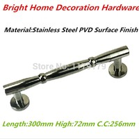 300mm 304 Stainless Steel Wooden Door Pull High Quality Black PVD Finish Door Handle Wood Door