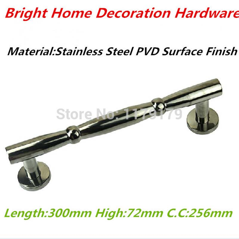 300mm 304 stainless steel wooden door pull high quality black PVD finishing door handle wood door hardware accessories top quality 304 stainless steel interior door lock big 50 small 50 series bedroom door anti insert handle lock