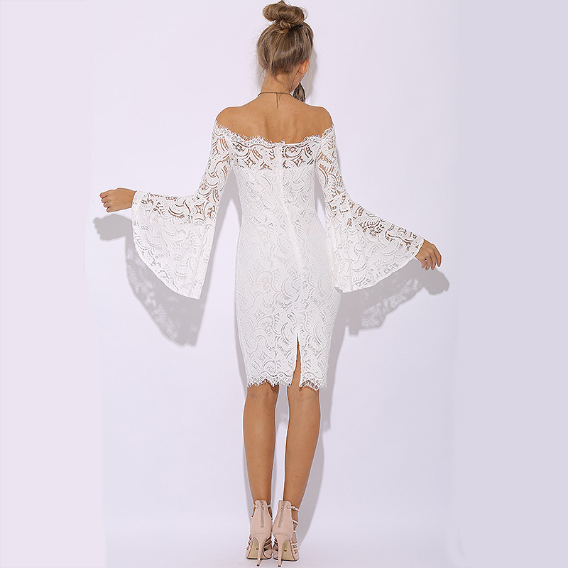 90d0db0ec4e Parthea Summer Dress 2018 Long Sleeve Lace Dress Women Elegant Sexy White Dress  Plus Size Midi Ladies Dresses Vestidos Verano-in Dresses from Women s ...