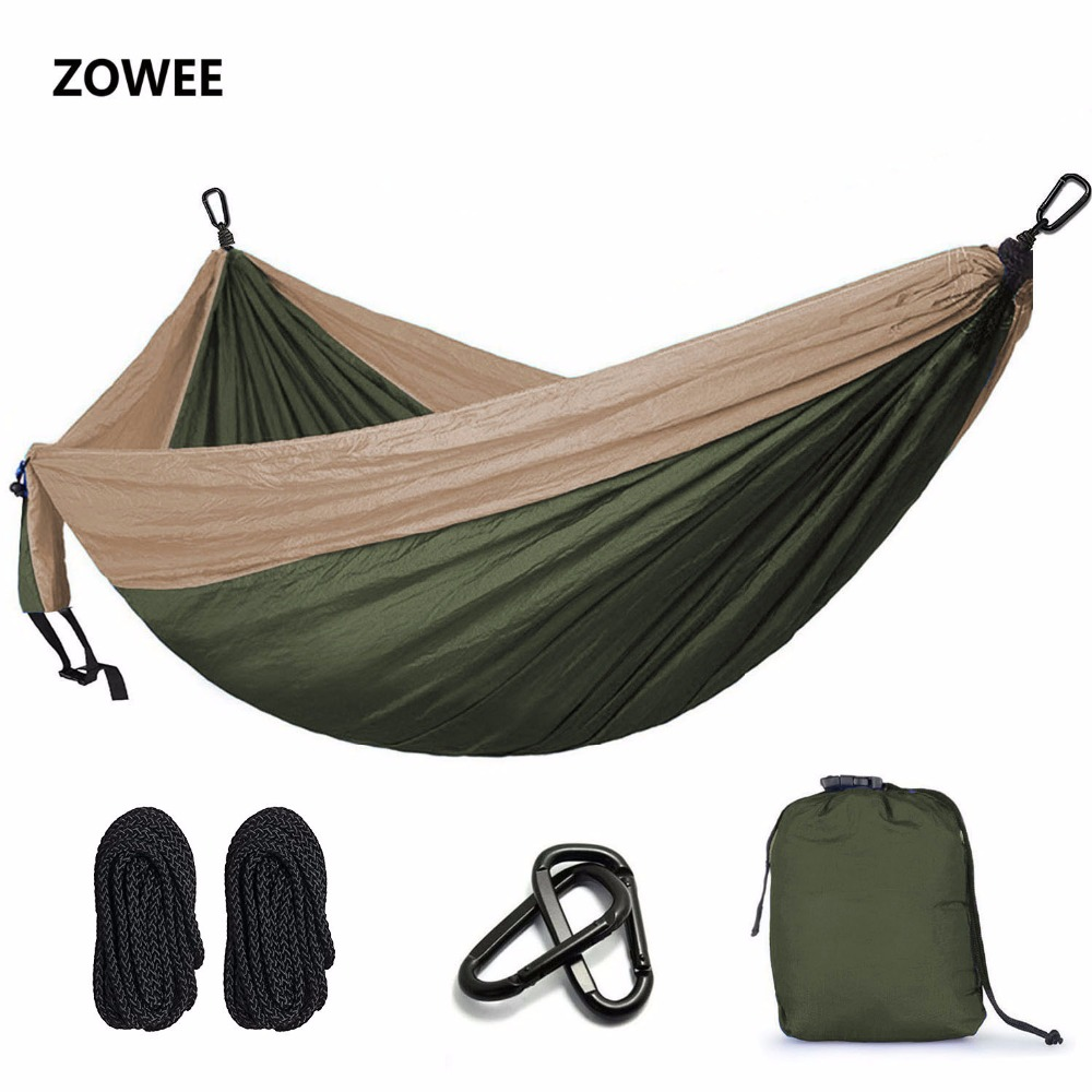Ultra-Large Double Person Hammock Camping Survival Garden Hunting Leisure Travel Portable Parachute Hammocks FREE SHIPPING 2017 2 people hammock camping survival garden hunting travel double person portable parachute outdoor furniture sleeping bag