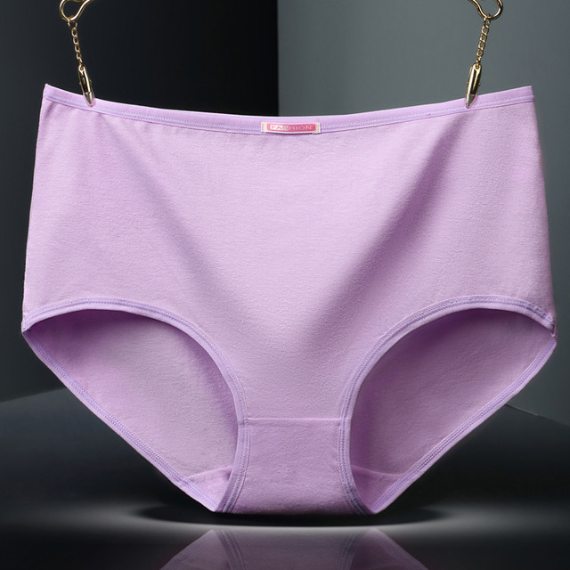 62d1698d956 Plus Size Panties Women Cotton Panty Underwear Ladies Briefs High Waist  Lingerie Calcinhas Intimates Underpants L-5XL