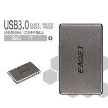 Original Eaget G50 500 GB 1 TB HDD 2,5 High-speed Edelstahl Fest Verschlüsselung Stoßfest USB3.0 External Hard Festplatte HDD