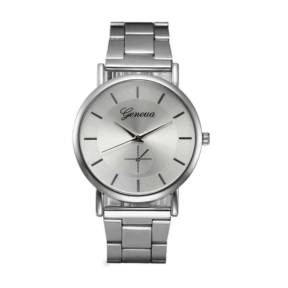 Relogio feminino watch women watches geneva stainless steel clock silver analog bracelet quartz for Stainless steel watch
