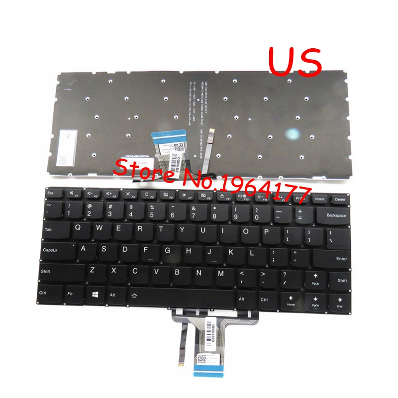 New FOR Lenovo Yoga 510-14 510-14AST 510-14IKB 510-14ISK Keyboard US Black With Backlight With Backlit